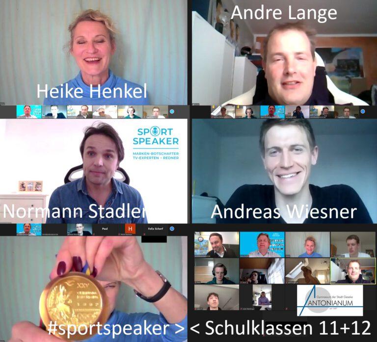 Online-Talk im Gymnasium: Schüler treffen Olympiasieger