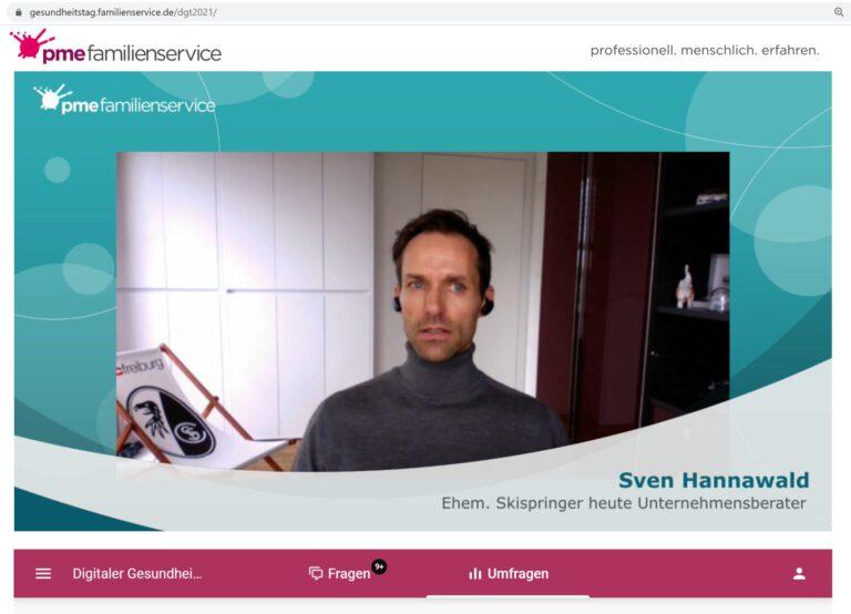 74.000 Teilnehmer sehen Sven Hannawald online