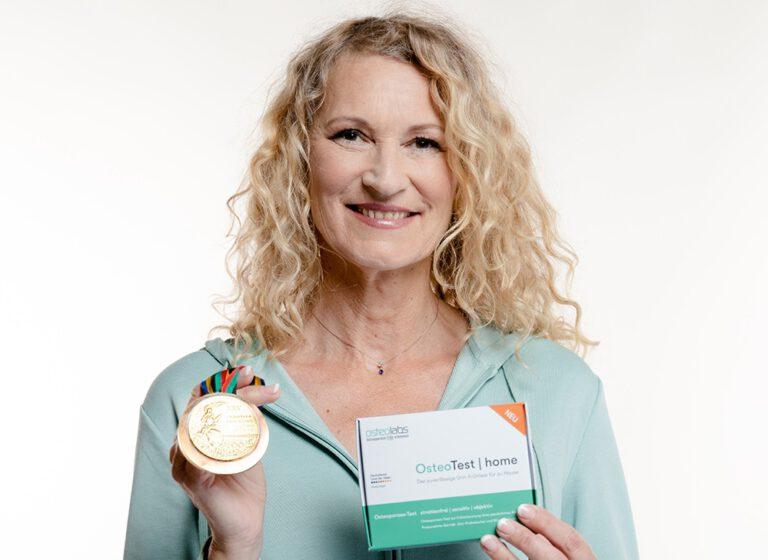 Hochsprung-Olympiasiegerin Heike Henkel startet mit Kieler Firma osteolabs Aufklärungs- und Werbekampagne zum Thema Knochenschwund